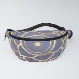 Mandala Chakra Copper and Purple Crown Chakra Fanny Pack
