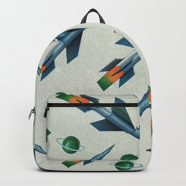 Rockets Pattern Backpack