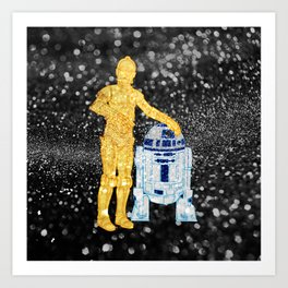Glitter Droids Art Print