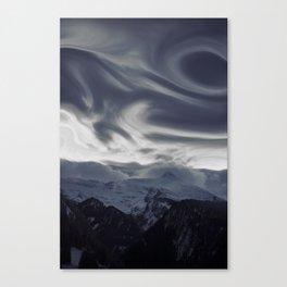 La vue des montagnes Canvas Print