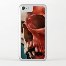 Skull 9 Clear iPhone Case