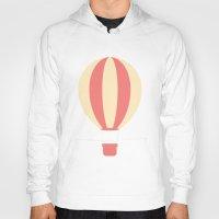 hot air balloon Hoodies featuring #84 Hot Air Balloon by MNML Thing