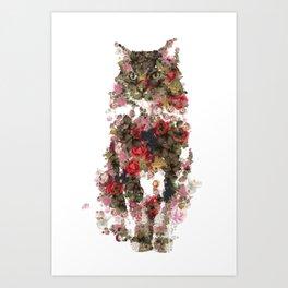 Portrait of a vintage cat  Discover Art Print