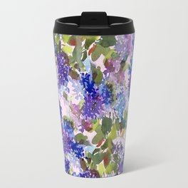 French Lavender Lilacs Travel Mug