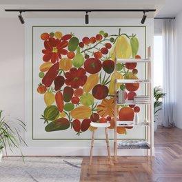 Whimsical Fruit Salad Wall Mural