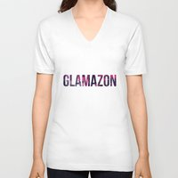 rupaul V-neck T-shirts featuring GLAMAZON by GLAMAZON