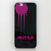 justice iPhone & iPod Skins featuring JUSTICE by TheCore