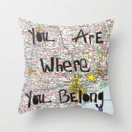 Where You Belong-Houston Throw Pillow