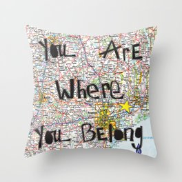 Where You Belong-Houston Throw Pillow