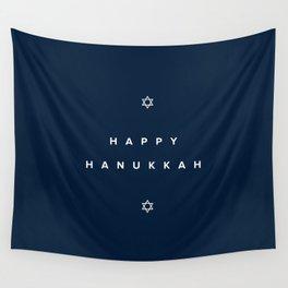 Happy Hanukkah Wall Tapestry