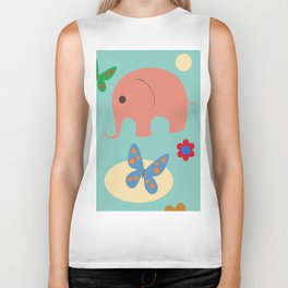 elephants in the sky Biker Tank