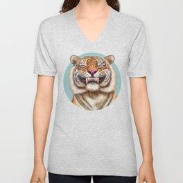 Smiling Tiger Unisex V-Neck