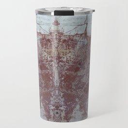 Red and White Concrete Wall Travel Mug