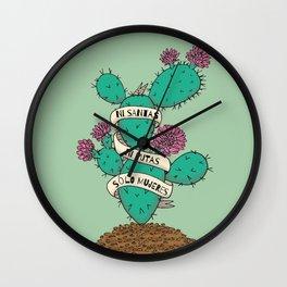 Ni Santas, Ni Putas, Solo Mujeres Gallery Print Wall Clock