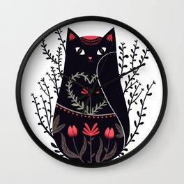 Russian kitty Wall Clock