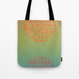 Rainbow gradient yoga date circles/yoga room Tote Bag