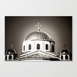 The Domes of St. Andrew Orthodox Church, Riverside, CA Canvas Print