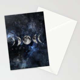 Moon Child Luna Watercolor Stationery Cards