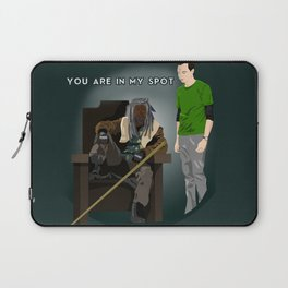 You are in my spot Laptop Sleeve