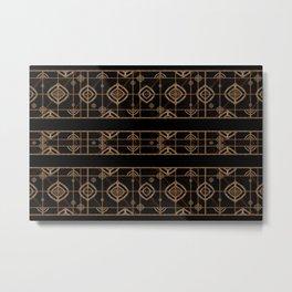Dark Geometric Abstract Pattern Metal Print