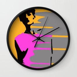 Graffiti Style Fashion Art - By Dominic Joyce Wall Clock