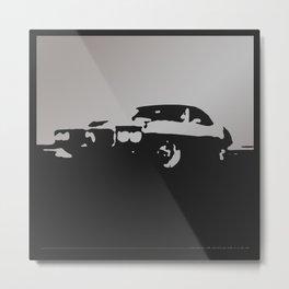 Pontiac Firebird, Gray on Black Metal Print