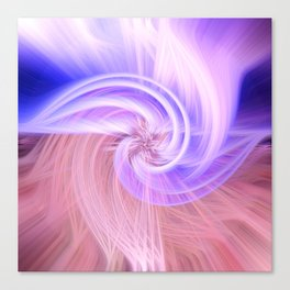 Awesome Light Fibers Show Of Twirls Canvas Print