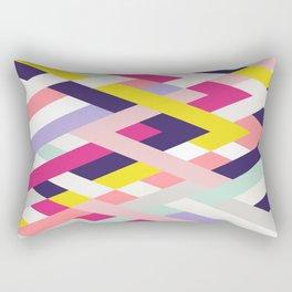 Smart Diagonals Blue Rectangular Pillow