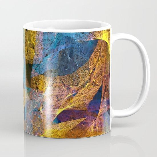 Gold & Blue Abstract Mug