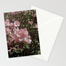 Happy Little Pink Flowers Stationery Cards