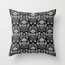 Damask Monotone Throw Pillow