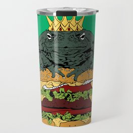 King of Burgers Green Travel Mug
