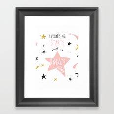 Everything stars Framed Art Print