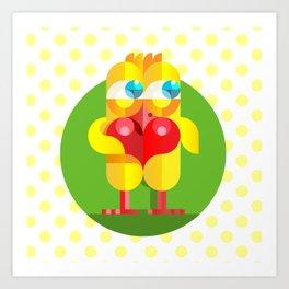 Love chicken Art Print