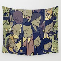 the walking dead Wall Tapestries featuring The Walking Dead by Ale Giorgini