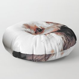 Portrait of a Yorkie | Dogs  Floor Pillow