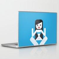 bikini Laptop & iPad Skins featuring Bikini (04) by Marco Recuero