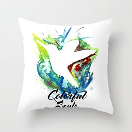 Colorful souls Throw Pillow