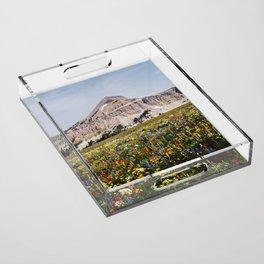 Fossil Mountain Wildflowers Acrylic Tray