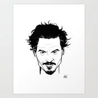 johnny depp Art Prints featuring Johnny Depp by Havard Glenne
