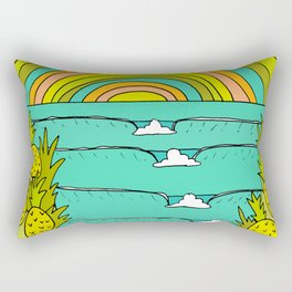 pineapple fields and endless summer vibes Rectangular Pillow