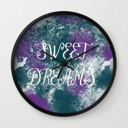 Sweet Dreams Paint Splatter Wall Clock