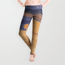 USA national park poster-california Leggings