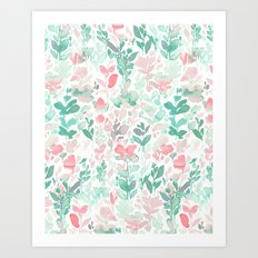 Flirt Mint Blush Art Print