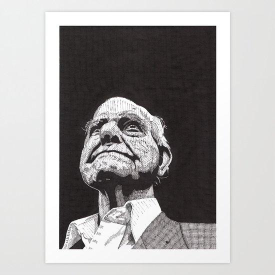 Homeless man5 Art Print