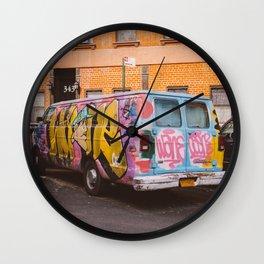 East Village Streets IX Wall Clock