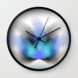 Colorful feather background Wall Clock
