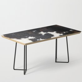 Cowhide Texture Coffee Table