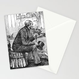 A Bit of Sunshine (1879) - Papa was just going out Stationery Cards