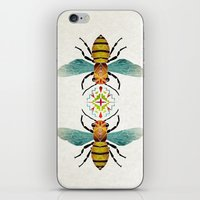 bee iPhone & iPod Skins featuring bee by Manoou